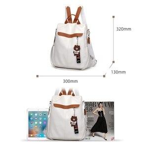 Image 4 - 2020 yeni marka tasarımcısı deri bayan sırt çantası vahşi kalite anti hırsızlık çanta bayanlar genç bayanlar seyahat çantası lüks sırt çantası mochil