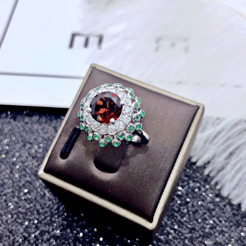 Dazz S925 Серебряный Роскошный кубический цирконий красочное дубайское кольцо для невесты Свадебные обручальные ювелирные изделия женские аксессуары подарок 2019