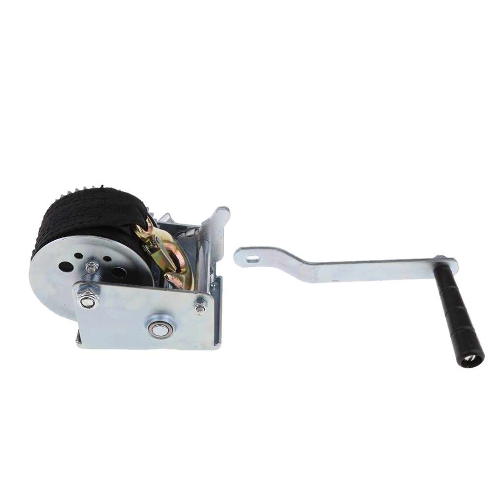 600LBS Boat Trailer Hand Winch Gear Synthetic System With 6m Nylon Strap