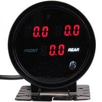 60MM Digital Air Pressure Gauge High Accuracy Barometers Monitoring Tools Tester for Car Motorcycle Bicycle 5pcs 1/8NPT Sensors