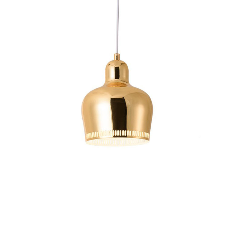 Denmark Nordic Artek Finnish Alvar Aalto Admiralty Bell Pendant Lights Bedroom Metal Luster LED Lamp Dining Room Bar De Fixtures|Pendant Lights| |  - title=