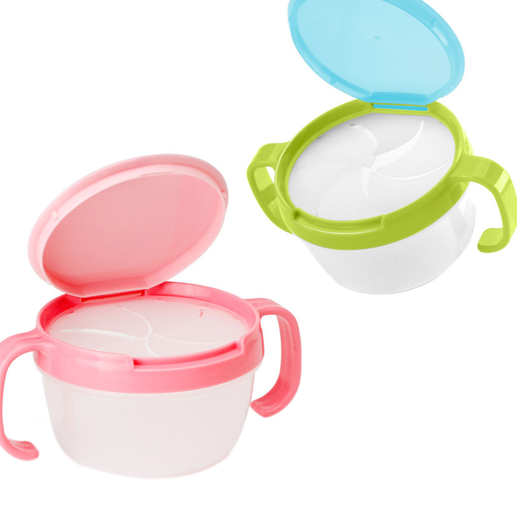 New Baby Feeding Bowls Baby Snacks Bowl Children Kids Food Storage Dishes Anti Spill 360 Rotate Baby Feeding Plate Tableware