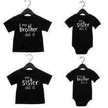 Conjunto de ropa a juego para bebé, camiseta negra para niño pequeño, ropa para bebé, regalo de una pieza para bebé, envío directo