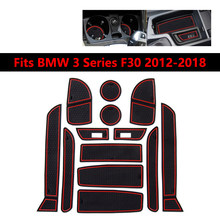 Car Interior Door Groove Mat For BMW 3 Series F30 2012 2013 2014 2015 2016 2017 2018 Gate slot pad Rubber Cup Holde Non-slip mat(China)
