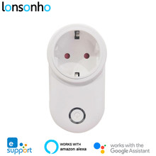 Lonsonho Smart Plug Wifi Smart Soket Uni Eropa US UK Outlet Ewelink Aplikasi Remote Control Kompatibel dengan Alexa Google Home Assistant(China)