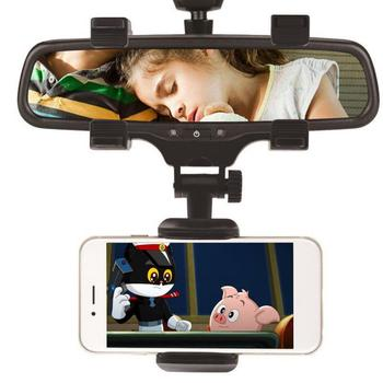 360 Degree Car Rearview Mirror Mount Holder Stand Cradle for Cell Phone GPS 360 Degree rotatable Camera DVR Recorder Sunvisor image