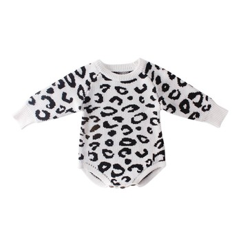 Comfortable ed Baby Clothes Newborn Baby Romper Leopard Baby Girl Romper Cotton Infant Baby Boy Romper 1