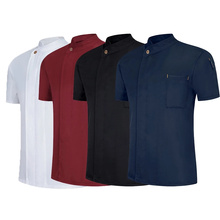 Uniform Workwear Short-Sleeve Chef-Jacket Food-Service Summer Bakery Hotel Restaurant