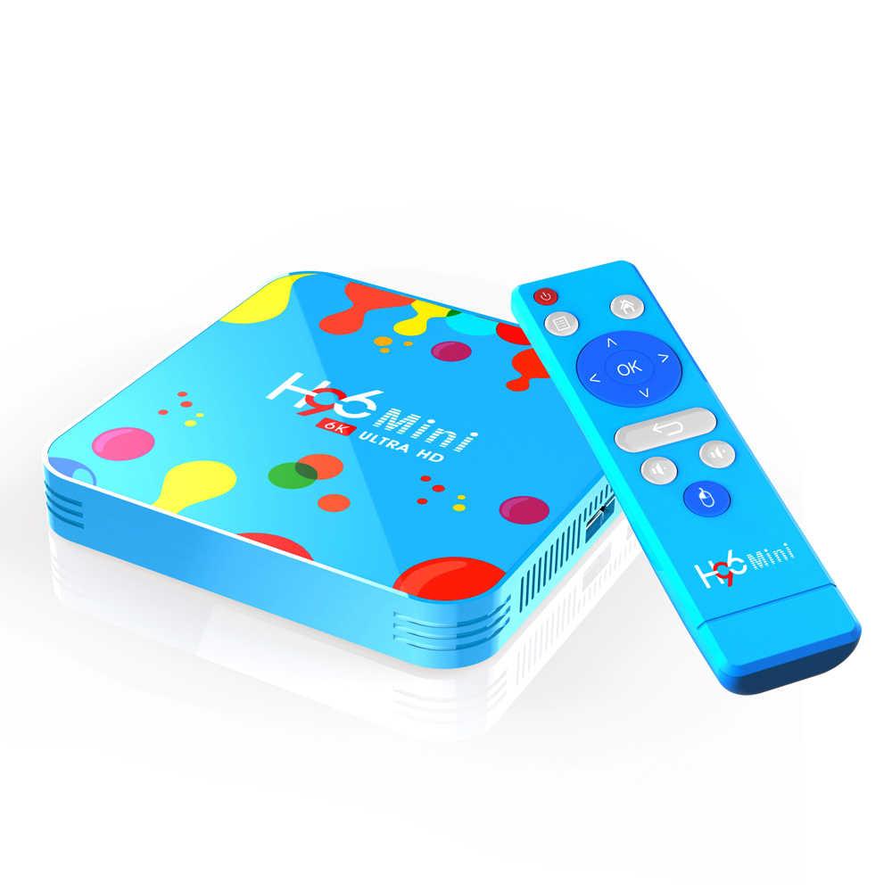 H96 MINI H6 6K HD Android 9,0 4G32G/128G ТВ-бокс с Францией Аравией Испания Lives & VODs KING телевизионная коробка