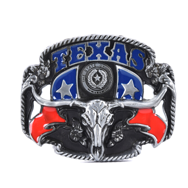 1pc DIY Texas Style Bull Head Belt Buckle Alloy Leather West Cowboy Strap Buckles American Mens Mature Belts Decoration