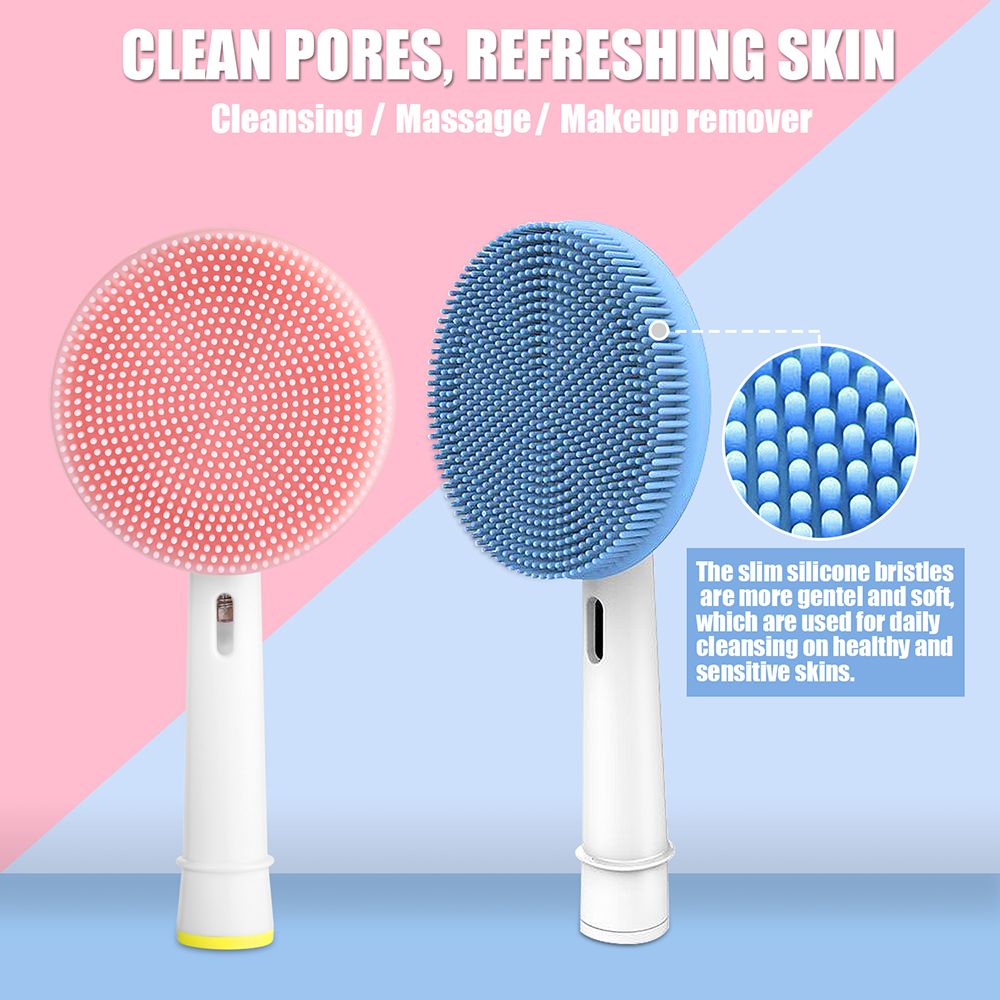 Facial Cleansing Brush Head Suitable For Oral-B Electric Toothbrush Face Skin Care Tools Facial Massager Cleanser Brush Heads