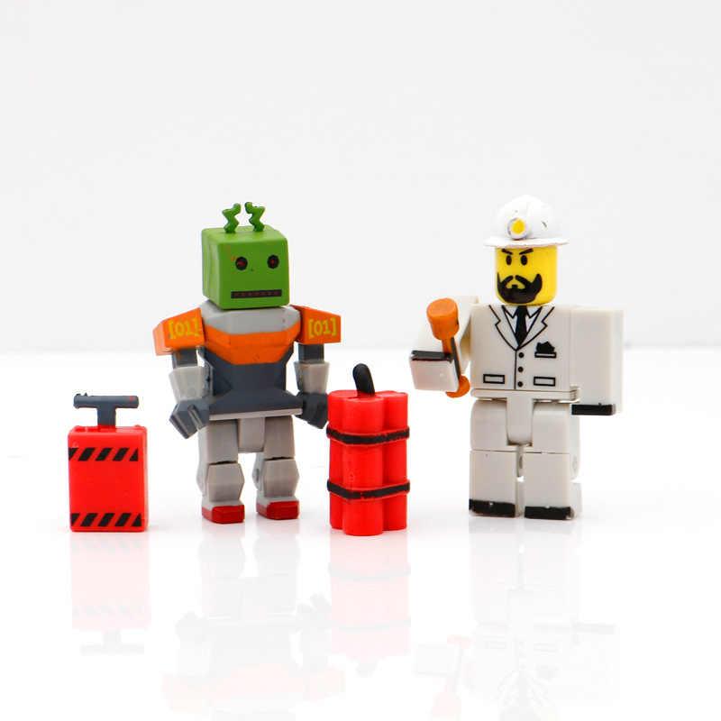 ROBLOX 4pcsFashion bebek 7cm PVC paketi bebek Boys oyuncaklar modeli figürler koleksiyonu için çocuklar için noel hediyeleri