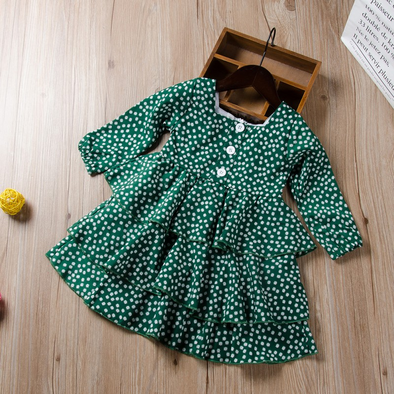Toddler <font><b>Baby</b></font> Girls <font><b>Dress</b></font> Cute <font><b>Baby</b></font> Girl <font><b>Polka</b></font> <font><b>Dot</b></font> <font><b>Dress</b></font> Princess Party Pageant Long Sleeve <font><b>Dresses</b></font> Kids Girl Infant Clothes image