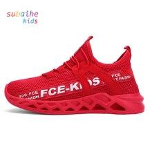 Çocuklar Sneakers örgü hafif koşu ayakkabıları kız erkek çocuk spor Ultra nefes kauçuk MD Unisex elastik tabanı