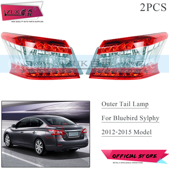 ZUK 2PCS AUTO Brake Light Stop Light Tail Lamp Tail Light Assy For NISSAN Bluebird SYLPHY PULSAR SENTRA B17 2012 2013 2014 2015