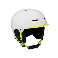 Capacete de esqui folheado placa dupla xue kui masculino feminino moldagem de uma peça alta respirabilidade|Protetor auricular| |  -