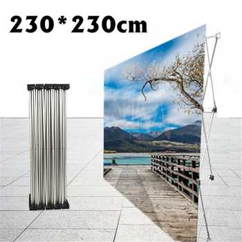Folding Stand Frame for Wedding Backdrops Straight Banner Exhibition Display Stand Trade Advertising Show Wall Aluminum Frame