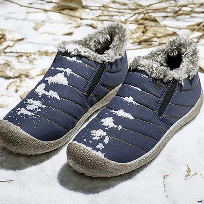 Men Boots Waterproof Comfortable Snow Boots Lightweight Fleece Lined Warm Ankle Shoes K-BEST image