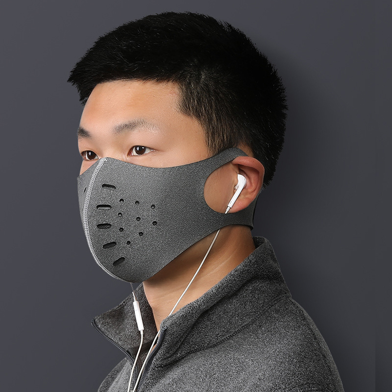 H260a012782774ec88a3f3c539030fcebX Cycling Face Mask Bicycle Dust-proof Sport Face Mask With Filter Anti-Pollution Running Training MTB Bike Outdoor facemask