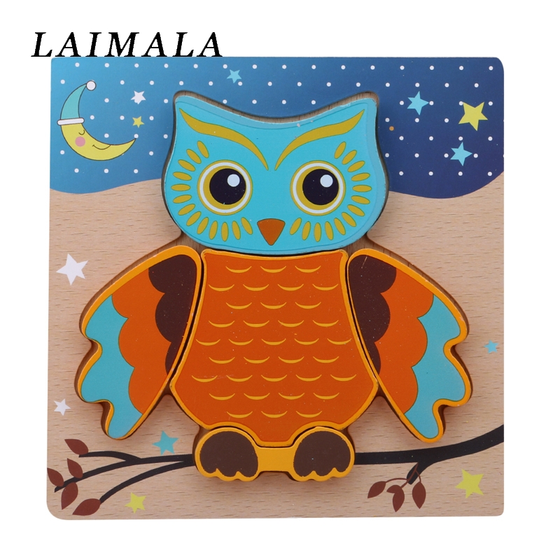 Wooden Puzzle Jigsaw Wooden Toys For Children Cute Cartoon Animal Puzzles Intelligence Kids Montessori Educational Learning Toy