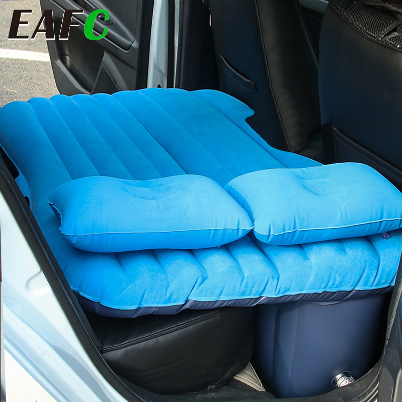 EAFC Car Air Inflatable Travel Mattress Bed Universal for Back Seat Multi functional Sofa Pillow Outdoor Camping Mat Cushion 1
