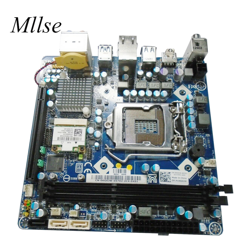 Free Shipping For DELL X51 R1 For ALIENWARE X51 R1 System Board H61 mini-itx htpc 17*17 LGA1155 6G6JW 06G6JW motherboard image