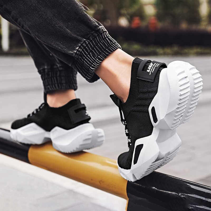 Keer Nieuwe Romeinse Chunky Sneakers 45 Mannen 2020 Lente Flywire Mesh Loopschoenen 47 Outdoor Mannen Wandelschoenen Plus maat 46