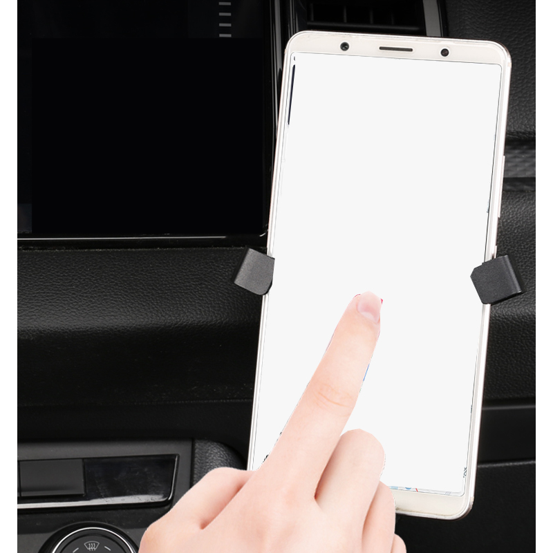Lsrtw2017 Car Dashboard Cellphone Holder Trims for Skoda Kodiaq Karoq Gt Interior Mouldings Accessories in Interior Mouldings from Automobiles Motorcycles