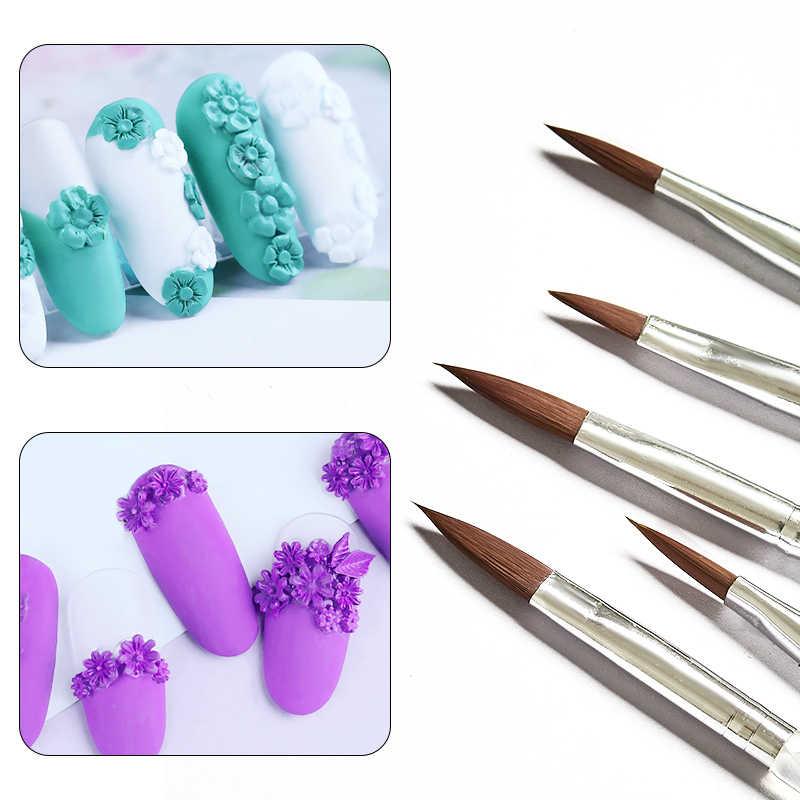 Acryl Nail Art Borstel Kit UV Gel Polish Schilderen Tekenen Penselen Pen Carving UV Gel Extension Builder Manicure Borstel Gereedschap