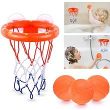Baby Bath Toys Kids Funny Bathroom Mini Basketball Hoop with 3 Balls Plastic Bathtub Shooting Game Children Girl Boy Water Games