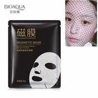 BIOAQUA Máscara Facial Para Cuidados Com A Pele Branqueamento Tratamento Magnético Folha de Máscaras Máscara Hidratante Anti Envelhecimento Anti Rugas Diminuir Os Poros