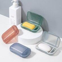 Portátil titular do sabão de plástico chuveiro caixa sabão caso bandeja prato de armazenamento titular recipiente casa acessórios do banheiro viagem