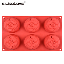 Soap-Mold Moulds-Forms Flower-Shape Handmade SILIKOLOVE 6-Cavity Craft 3D DIY