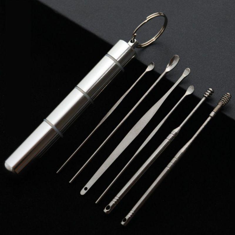 Портативный прочный ушной инструмент из нержавеющей стали для чистки ушной инструмент