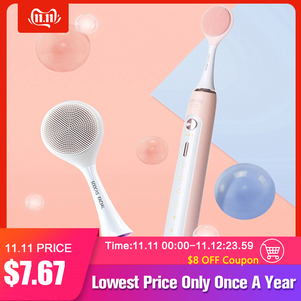 Facial Cleansing Brush Head X1 X3 X5 Sonic Electric Toothbrush SOOCAS SOOCARE Electric Massage Brush X3