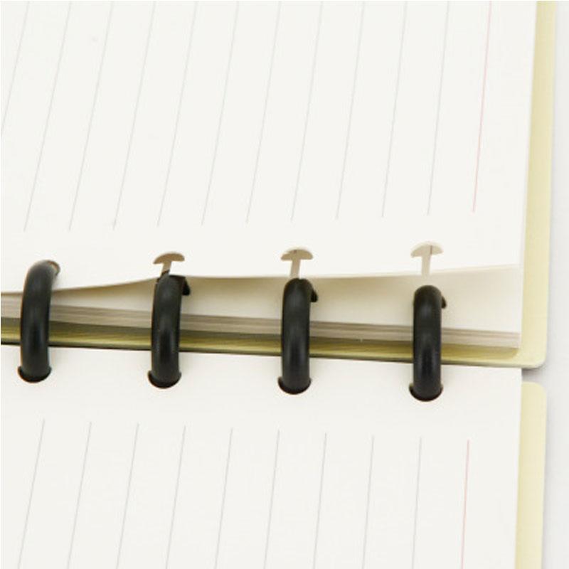 Yiwi 50PCS/Lot Mushroom Hole Disc-binding Loose Book Binding Ring Disc Arc Binding Notebook Arc Binding Happy Notebook