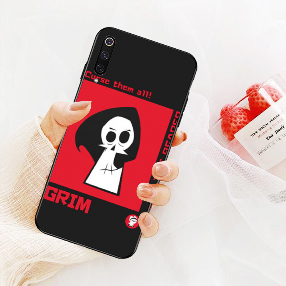 NBDRUICAI Billy and Mandy Soft black Phone Case for Xiaomi Redmi Note 8 8A 7 6 6A 5 5A 4 4X 4A Go Pro Plus Prime