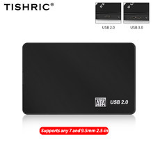 TISHRIC Hdd Case For Hard Drive Box 2.5 Inch Hdd Enclosure SATA To USB 3.0 Adapter 8 TB External Hard Drive Case Hdd Enclosure