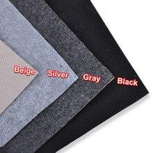 1x0.5m Speaker Cloth Self-Adhesive Felt Subwoofer Box Tape Strip Patch Sound Absorption Anti-seismic Beige/Silver/Gray/Black
