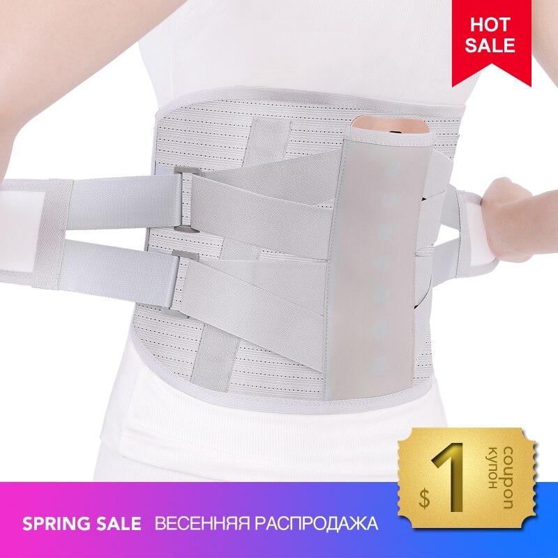 Bel destek kemeri lomber disk herniasyonu ortopedik tıbbi gerilme ağrı kesici bel geri lomber omurga Brace erkekler elastik sabit