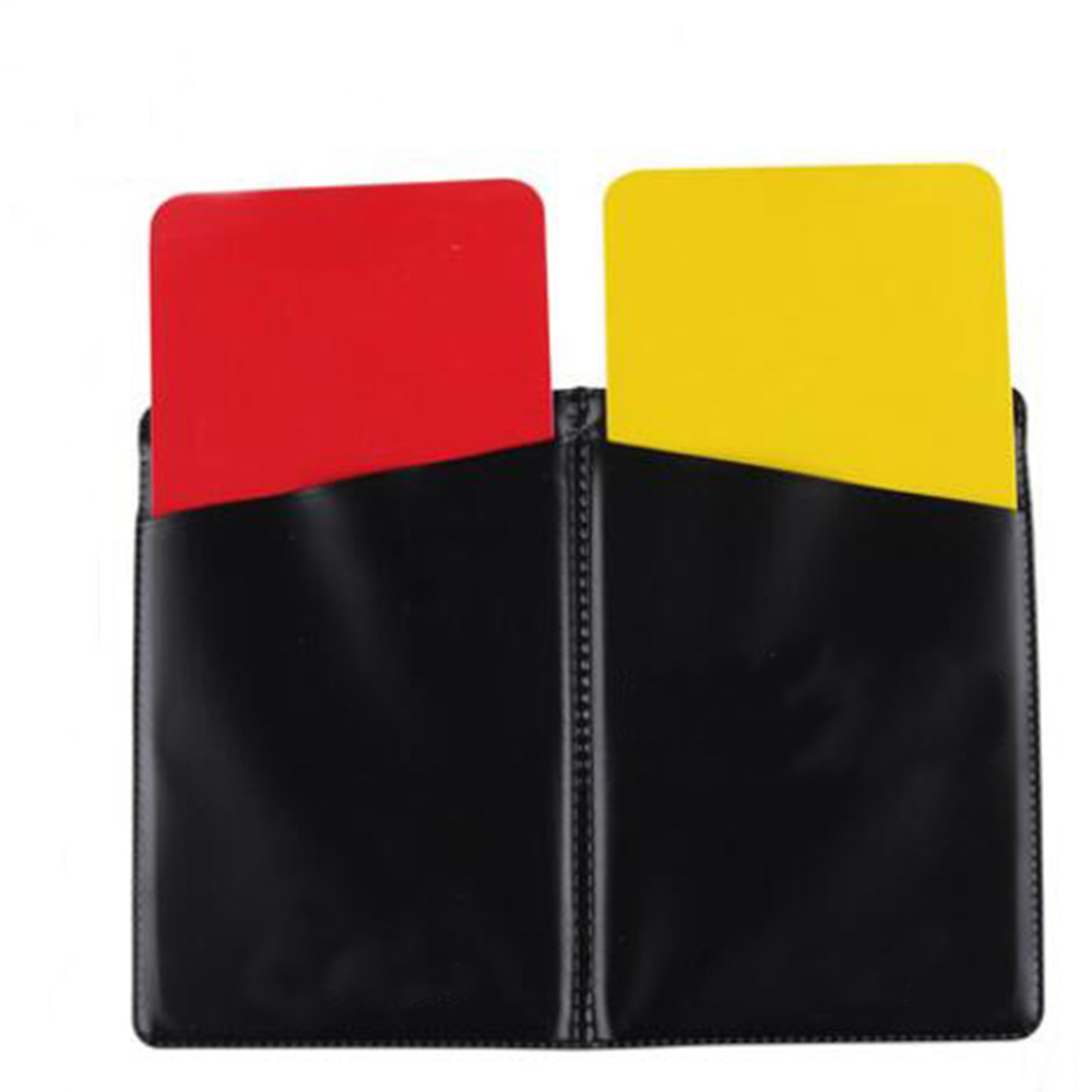 New Red Yellow Card for Soccer Referee Wallet Pencil Sports Match Notebook Soccer Sheet Set Football Competition Supplies