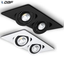 [DBF]360 Angolo di Regolare LED Da Incasso Da Incasso 10W 14W 20W 24W LED del Punto del Soffitto luce 3000K/4000K/6000K Nero/Bianco Custodia Luce