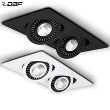 [DBF]360 regulacja kąta LED oprawa wpuszczana 10W 14W 20W 24W oświetlenie sufitowe LED punktowe 3000K/4000K/6000K czarny/biały obudowa światła