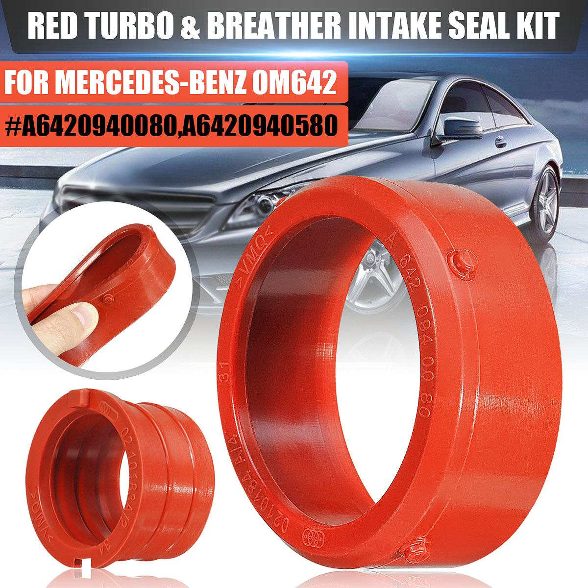 Car engine Rubber Turbo & Breather Intake Seal Kit Fit for Mercedes-Benz <font><b>OM642</b></font> #A6420940080,A6420940580 Auto Engine Accessories image