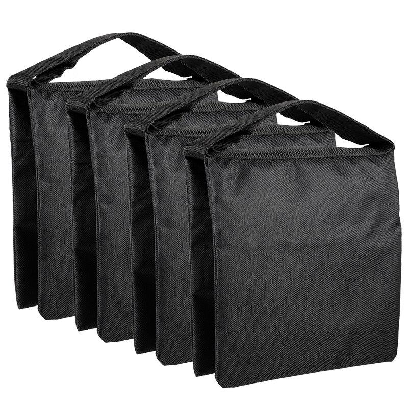 4 Packs Weight Bags for Photo Video Studio Stand Backyard Outdoor Patio Sports  Black  Super Heavy Duty Sandbag Design