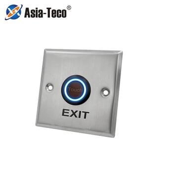 Drzwi ze stali nierdzewnej przycisk dzwonkowy Panel dotykowy do kontroli dostępu zamek elektryczny wyjście drzwi przycisk zwalniający tanie i dobre opinie LUCKING DOOR CN (pochodzenie) 86*86*30mm ST86 Przycisk wyjścia