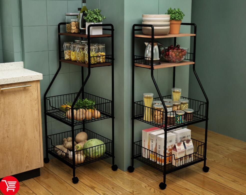 Kitchen storage rack kitchen utensils storage rack for multi-layer vegetable microwave oven