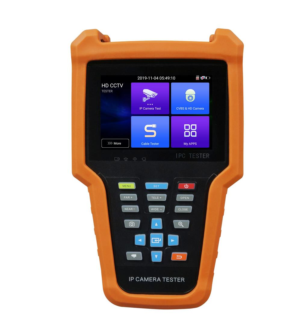 4 Inch HD IP CCTV Tester Monitor CVBS AHD CVI TVI SDI Camera Tester H.265+ 12MP 8MP Onvif WIFI POE