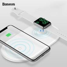 Беспроводное зарядное устройство Baseus Qi для Apple Watch 4, 3, 2, 1, iWatch 2в1, быстрая Беспроводная зарядная подставка для iPhone 11 Pro, XS, Max, X, samsung S10
