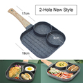 4-Hole 2-Hole Frying Pot Pan Thickened Omelet Pan Non-stick Pancake Steak Cooking Egg Ham Pans Breakfast Maker Cookware